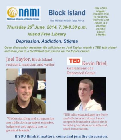 Talks 2014 Mental Health Mental Illness On Block Island